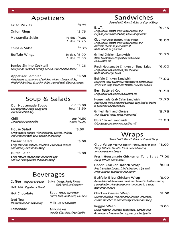 Dunlaps Soup & Salad Menu